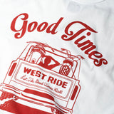 "May club -【WESTRIDE】""GOOD TIMES"" TEE - WHITE"