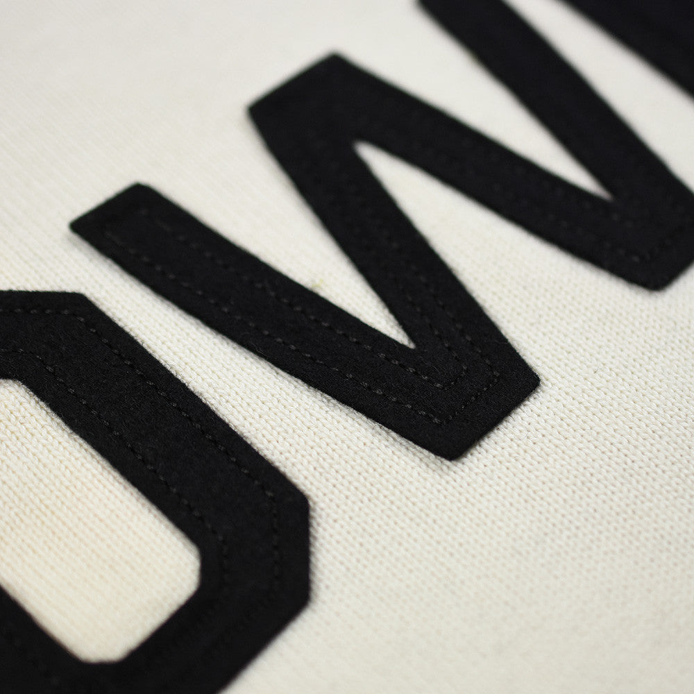 May club -【WESTRIDE】CLASSIC H.ZIP BORDER JERSEY - BLK/IVRY