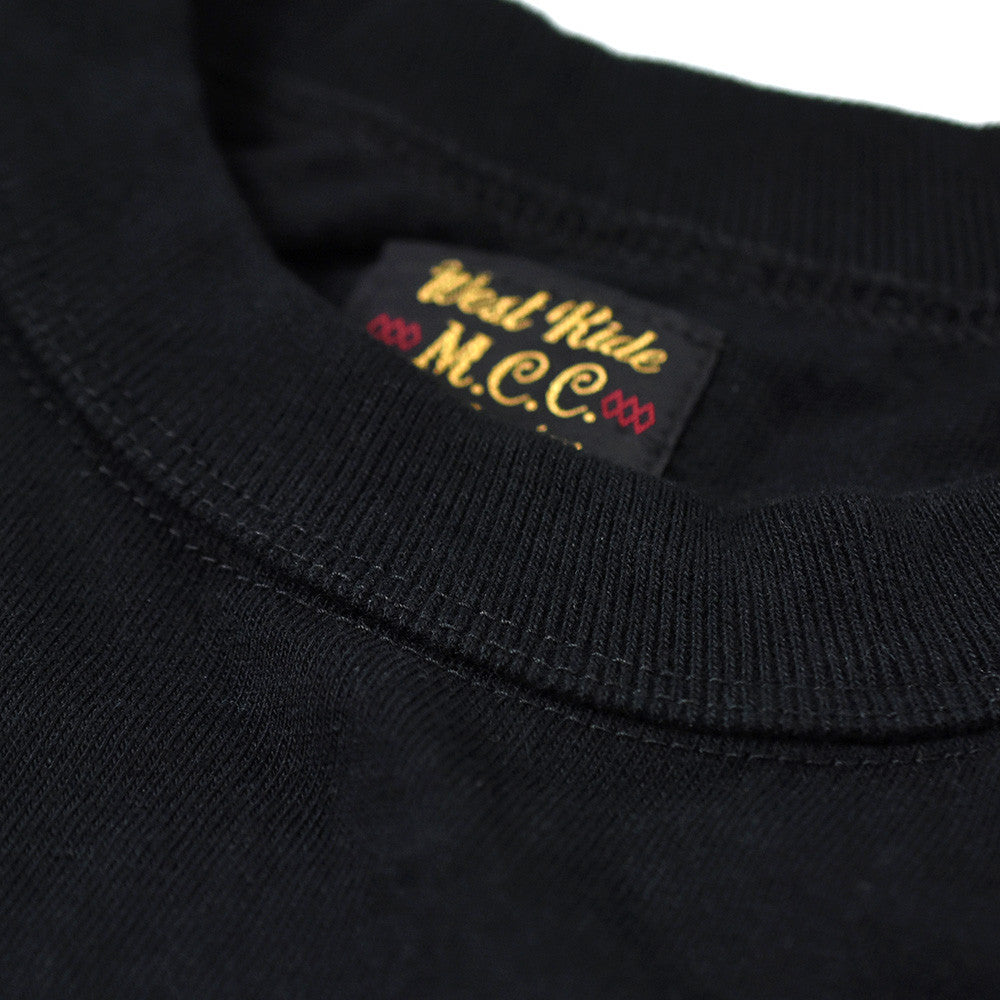 "May club -【WESTRIDE】""CHOPPER SAVED MY LIFE"" TEE - BLACK"