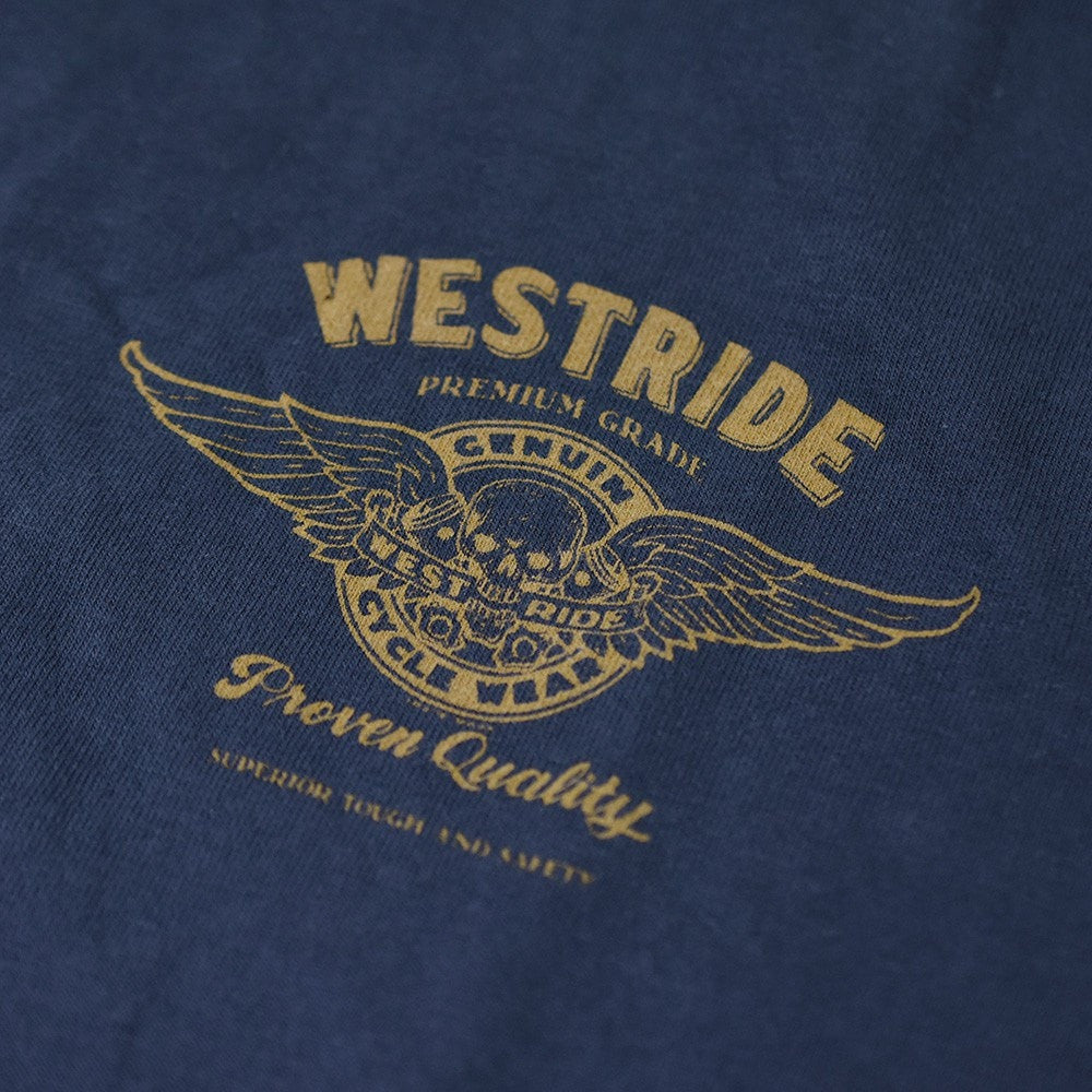 "May club -【WESTRIDE】""1976 HARLEY BICENTENNIAL"" TEE - NAVY"