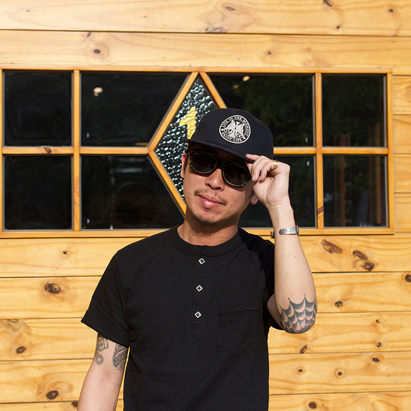 May club -【WESTRIDE】GREEN BOW TEE - BLACK