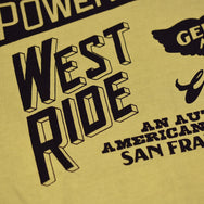 "May club -【WESTRIDE】""CYCLE GOODIES"" TEE - MUSTARD"