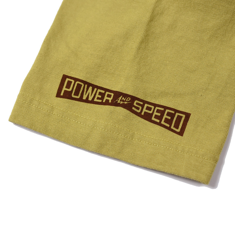 "May club -【WESTRIDE】""POWER AND SPEED"" TEE - MUSTARD"