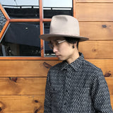 May club -【BAD QUENTIN】STETSON ANTELOPE FELT HAT - PINK BEIGE