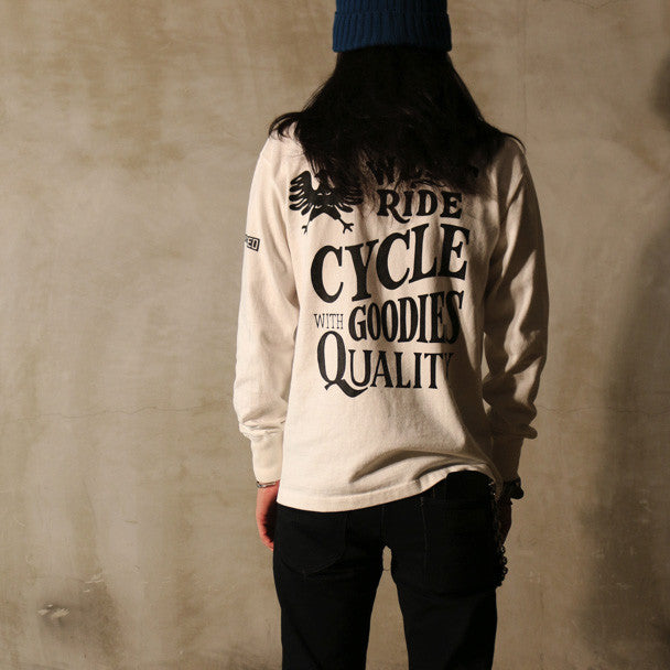 "May club -【WESTRIDE】""POWER AND SPEED"" LONG SLEEVES TEE  - WHITE"