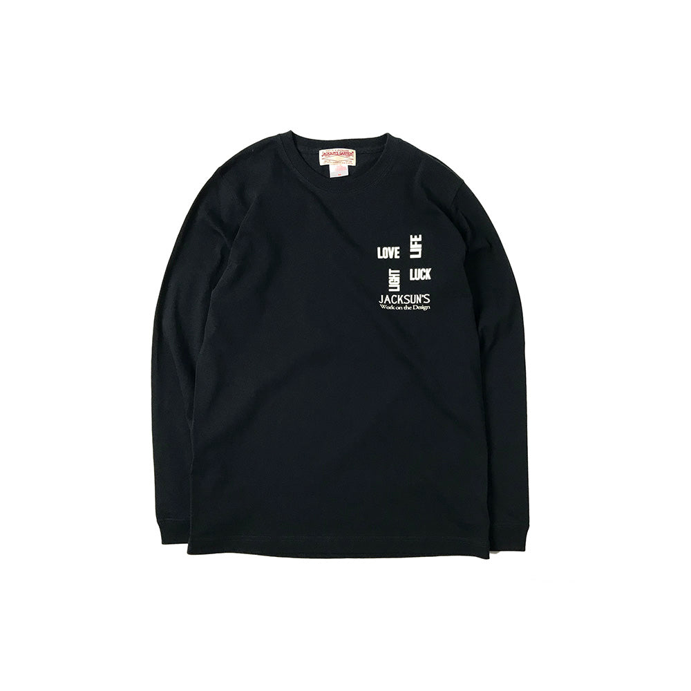 May club -【JACKSUN'S】JACKSUN'S 4L L/S T-SHIRTS - BLACK