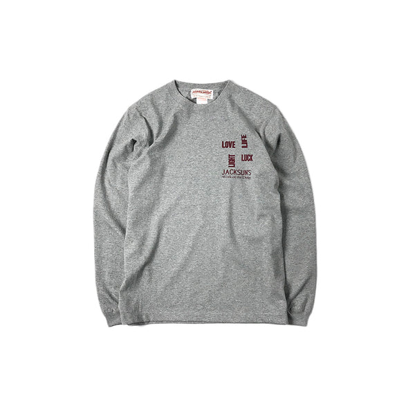 May club -【JACKSUN'S】JACKSUN'S 4L L/S T-SHIRTS - GREY