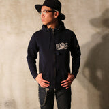 May club -【WESTRIDE】FULL ZIP MC HOODIE - NAVY
