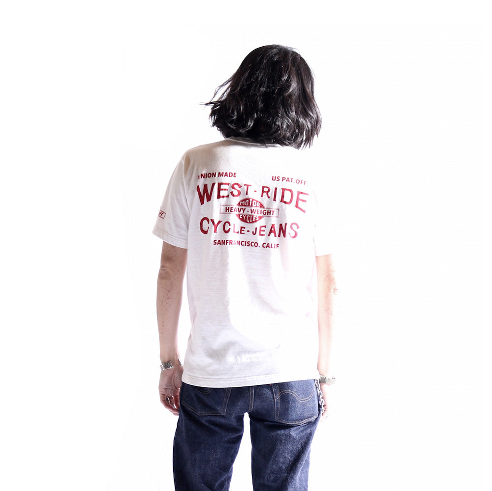 "May club -【WESTRIDE】""CYCLE-JEANS"" TEE - WHITE"