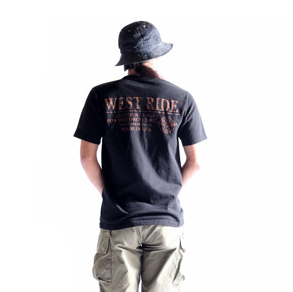 "May club -【WESTRIDE】""WEST RIDE TRADE MARK"" TEE - BLACK"