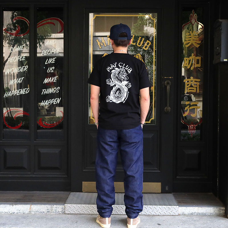 May club -【May club】MAY CLUB X KNUCKLE 8TH ANNIVERSARY TEE - BLACK/WHITE