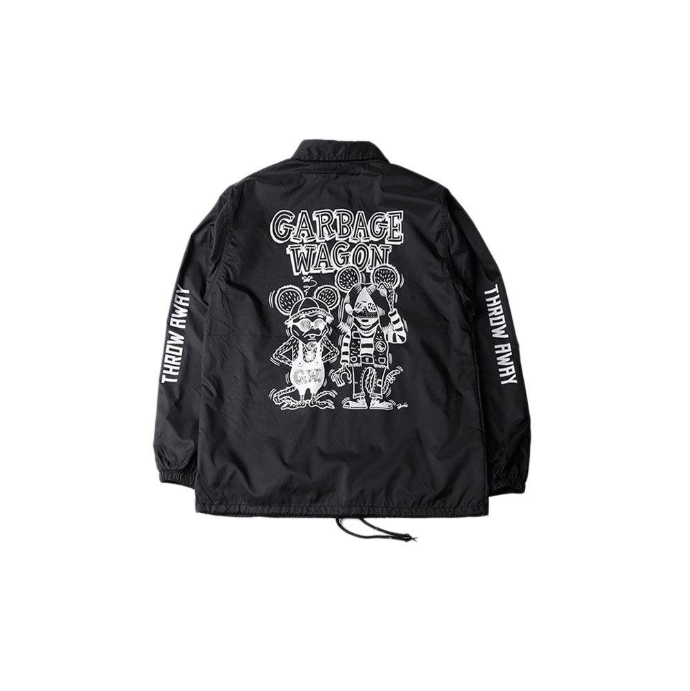 May club -【WESTRIDE】GARBAGE WAGON COACH JACKET - BLACK