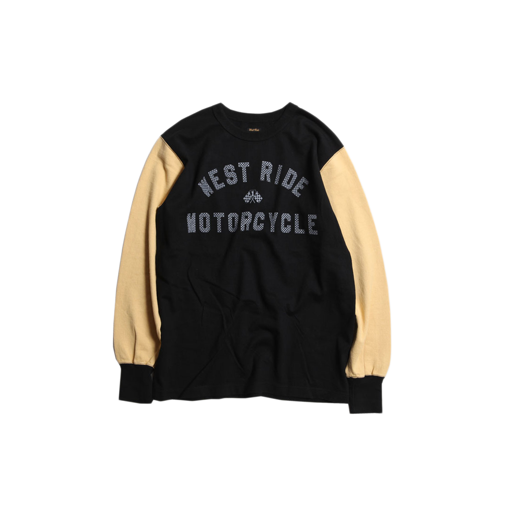 May club -【WESTRIDE】WEST RIDE MC LONG SLEEVES TEE - BLK/L.HNY