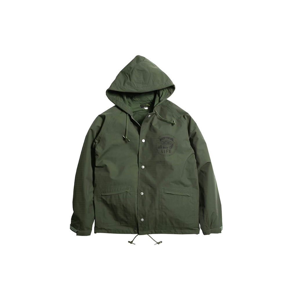May club -【WESTRIDE】CYCLE HOODIE WINDBREAKER:A WAY OF LIFE(OLIVE)