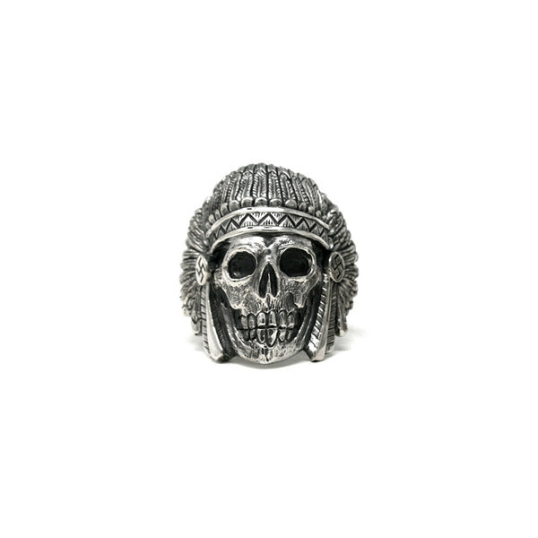 "MAY CLUB X C.T.M X BLACKBOOTS ""CITY INDIAN"" RING - ALL SILVER"