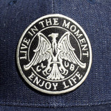 May club -【May club】LIVE IN THE MOMENT TRUCKER CAP - DENIM