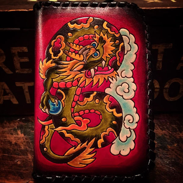 COIN PURSE - DRAGON AND GEISHA