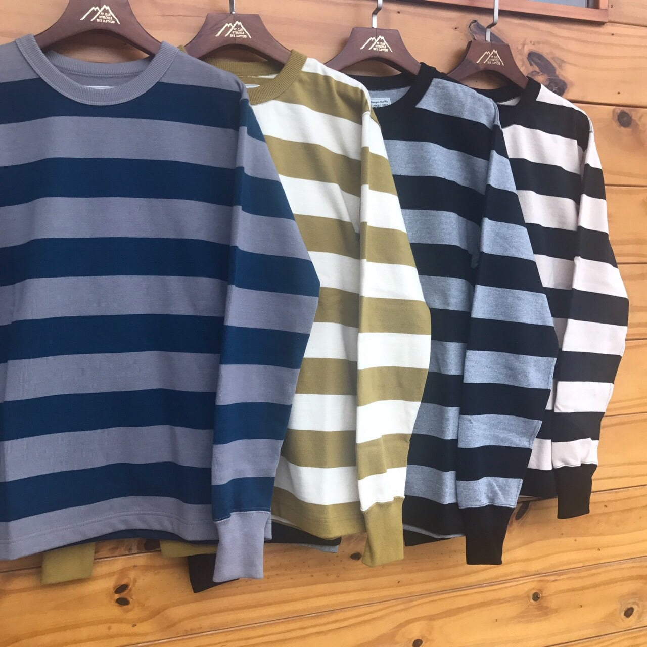May club -【WESTRIDE】HEAVY BORDER LONG SLEEVES TEE - NVY/GRY
