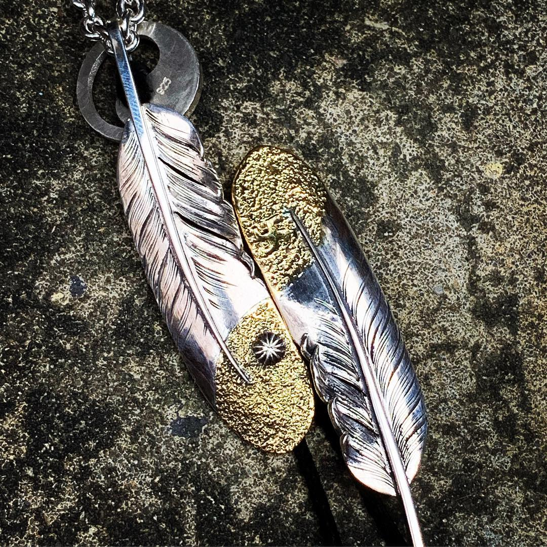 May club -【May club】HALF GOLD TAICHI FEATHER - CONCHO