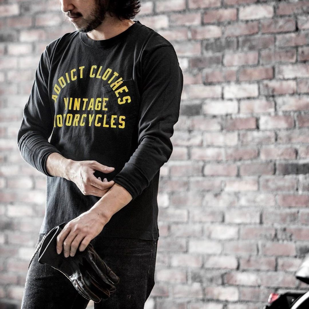 May club -【Addict Clothes】AD-CSLP01 ACVM LONG SLEEVE TEE - BLACK