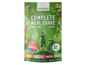 Ambronite Complete Meal Shake Full Meal Pouch, Berries Flavor
