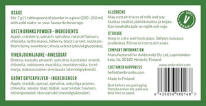 AmbroGreens Ingredients