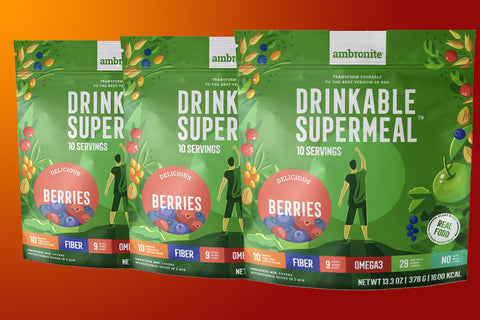 Ambronite Supermeal - 3 x 1600 kcal Bundle, Berries, 10% Off