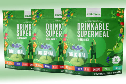 Ambronite Supermeal - 3 x 1600 kcal Bundle, Original, 5% Off