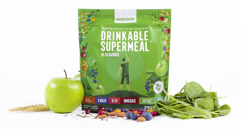 100% natural vegan superfood meal replacement shake