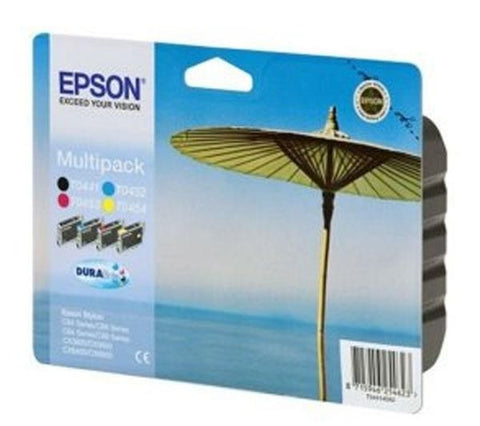 EPSON T0445 Ink cartridge 4-pack - Black, Magenta, Yellow, Cyan - C13T04454010