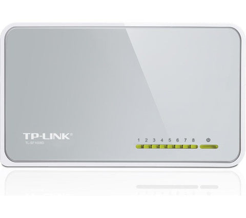 TP-LINK TL-SF1008D 8-port 10/100 Mbps Ethernet Switch - TL-SF1008D