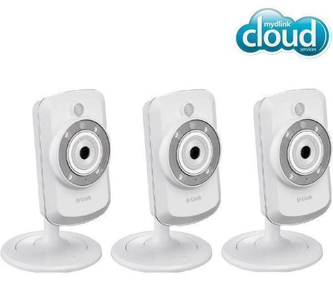 D-LINK DCS-942L Pack of 3 WiFi-N IP mydlink cameras- day / night - DCS-942L X 3
