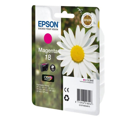 EPSON Claria Home 18 - Print cartridge - 1 x magenta - 180 pages  - C13T18034010