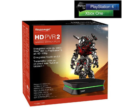HAUPPAUGE HD PVR 2 Game Edition Plus - PC and Mac compatible - Xbox One and PS4 compatible - 1499