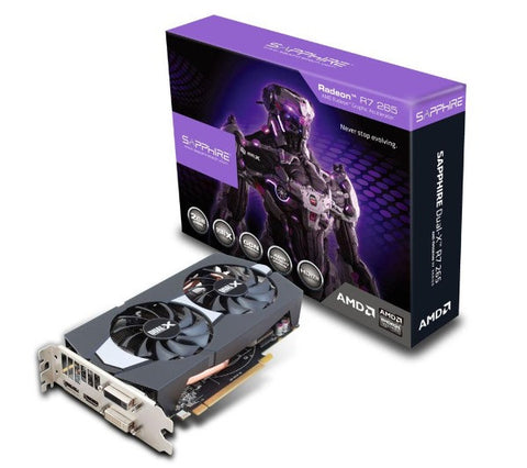 SAPPHIRE TECHNOLOGY R7 265 - 2 GB GDDR5 - PCI-Express - graphics card - 11232-00-20G