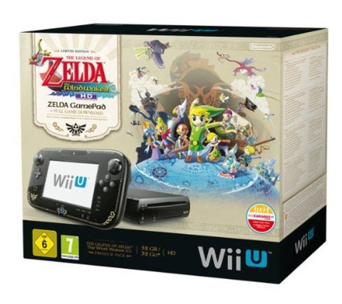 NINTENDO Pack Premium Wii U 32 GB black + The Legend of Zelda Wind Walker HD - Limited Edition - WII U PREMIUM