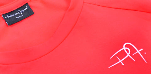 Premium Apparel Eclipse T-Shirt Imperial Red Close Up