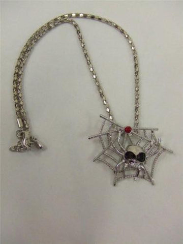 Spider Web Necklace with Spider ~ Witch ~ Costume jewellery ~ Halloween