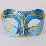 Venetian Mask ~ Blue and Gold Glitter ~ #121/OGCT ~ Masquerade Ball