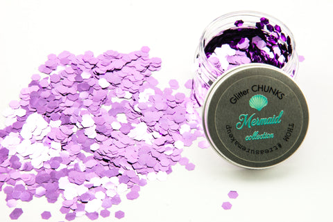 Chunky Glitter ~ Mermaid Collection  ~ 15 ~ Sirena ~ lilac ~ Face Body Hair ~ Festival
