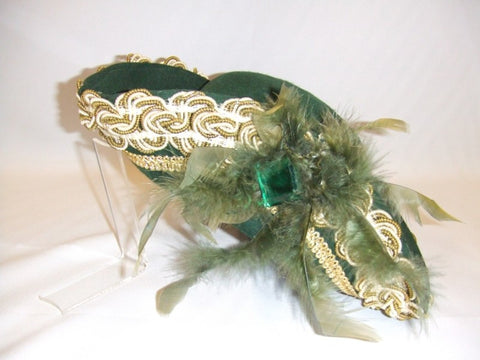 Ladies Green Tricorn Hat ~ Hire