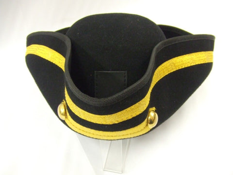Black and Gold Military Tricorn Hat ~ Hire