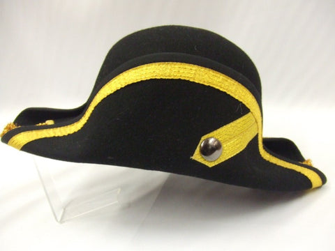 Black and Gold Military Bicorn Hat ~ Hire