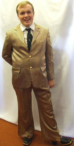 1970s Suit ~ Gold, Black and Red Stripe ~ fancy dress  ~ 42