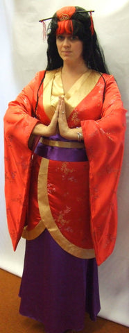 Japanese Geisha Girl ~ Hire ~ Purple and gold ~ Size 8 - 10 ~ Oriental