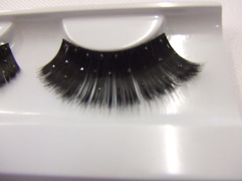 False Eyelashes ~ Black / black glitter ~ showgirl ~ dame ~ 326