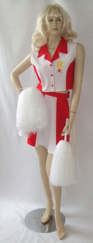 Cheerleader costume ~ Long ~ Fancy dress Hire Canterbury ~ size 14 - 16