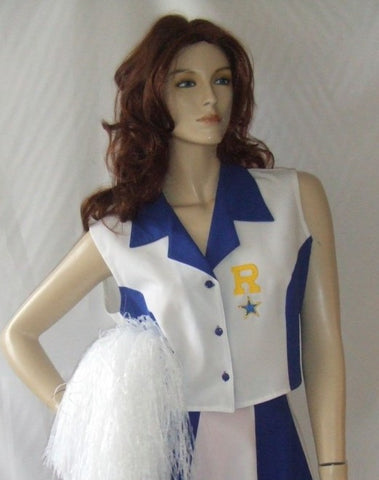Cheerleader costume ~ short ~ Fancy dress Hire Canterbury ~ size 8 to 12