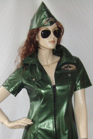 G I Jane ~ PVC Army costume ~ Hire ~ ~ uniform ~ Size 10 - 12