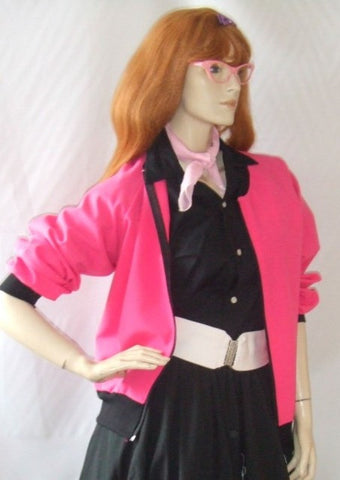Pink Ladies Full costume ~   1950's fancy dress ~ 1970's  Hire ~ size 12/14 and 16/18